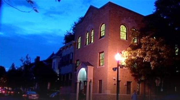 The Kesher Israel synagogue, in the heart of Georgetown, Washington.