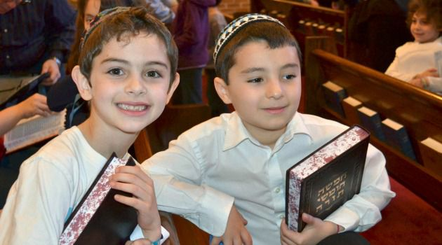 Open and Shut : Seven-year-old Lucas Ludvig, left, and his friend Elan Ronen were forced to find new schools after the Solomon Schechter School of the Raritan Valley abruptly announced it would not reopen this fall.