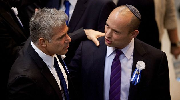 Buddding Bromance: The two-headed Israeli team of Yair Lapid and Naftali Bennett represent different sides of the political spectrum, but have united to refuse Benjamin Netanyahu?s efforts to forge a coalition. Now the once-mighty premier is staring defeat in the face.