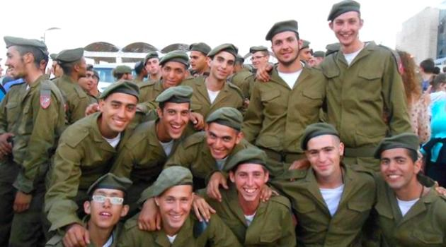 Lone Soldiers: IDF Paratroopers at a swearing-in ceremony in Israel.