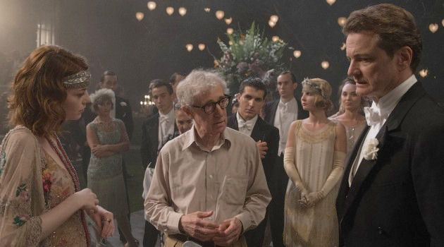 Misdemeanors, Not Crimes: Woody Allen directs a scene from 'Magic in the Moonlight.'