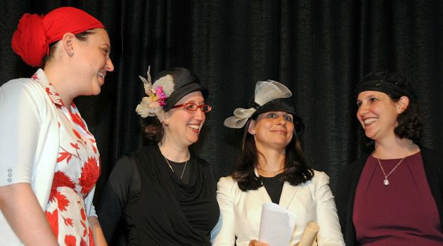 Gang of Four: New graduates from the groundbreaking Yeshivat Maharat join Rabba Sara Hurwitz, whose 2009 ordination helped blaze a trail for the women who are now joining the ranks of Orthodox religious leaders.