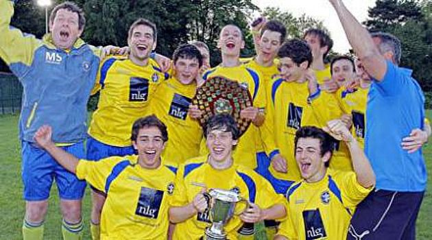 Better Days: Manchester Maccabi players celebrate a 2011 victory.