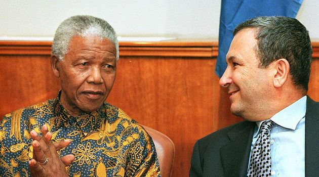 Icon and Israel: Nelson Mandela meets with Ehud Barak during visit to Israel in 1999.