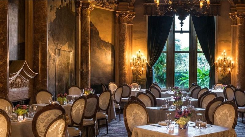 Perhaps guests eating in the dining room of President Trump's 'Winter White House' (above) will consider sticking with the salad, since the most serious code violations involved issues with fish and meat.