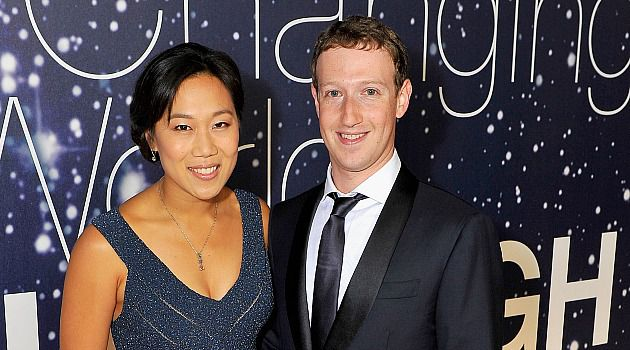 Facebook CEO Mark Zuckerberg and his wife arrive at the Breakthrough Prizes gala in San Francisco.