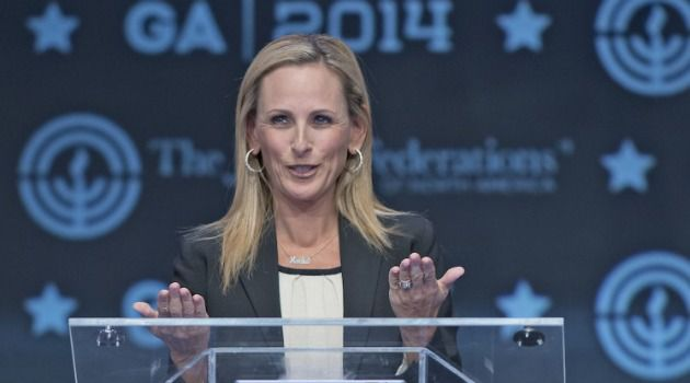 Academy Award-winning actress Marlee Matlin speaks at the General Assembly of the Jewish Federations of North America.