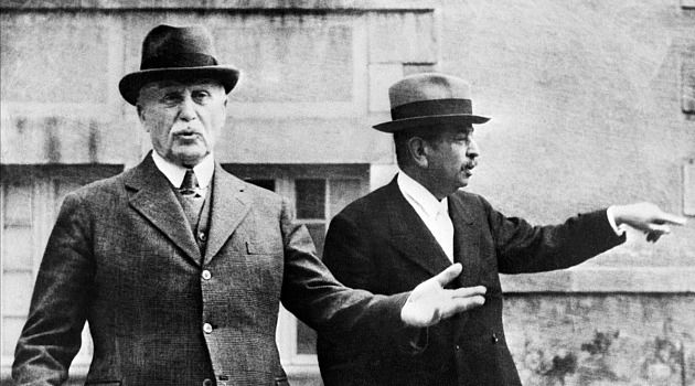 Good Puppet? Marshall Petain, left, the leader of the pro-Nazi puppet Vichy French government, gestures in a 1942 photo.