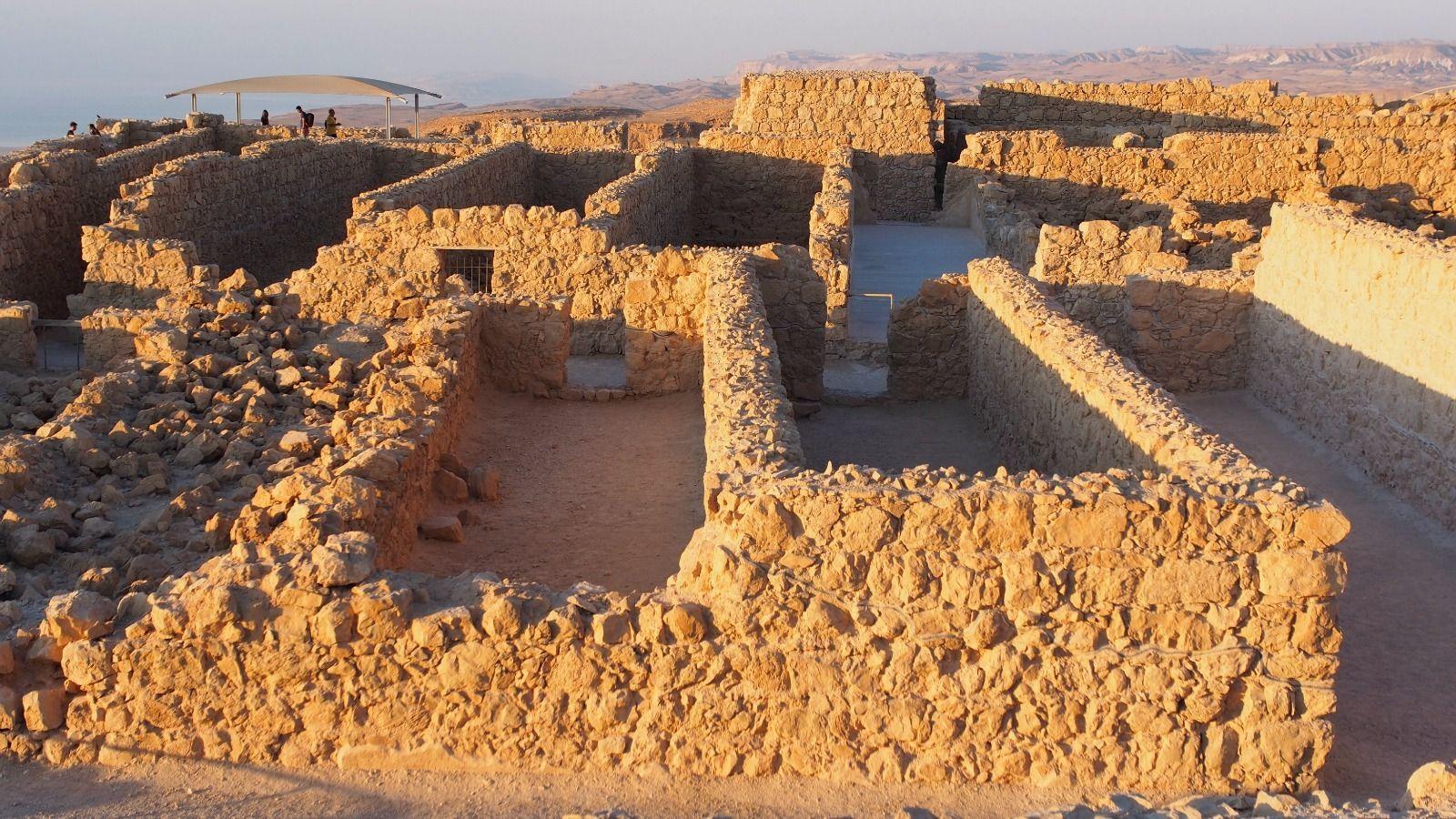 Exploring Masada.