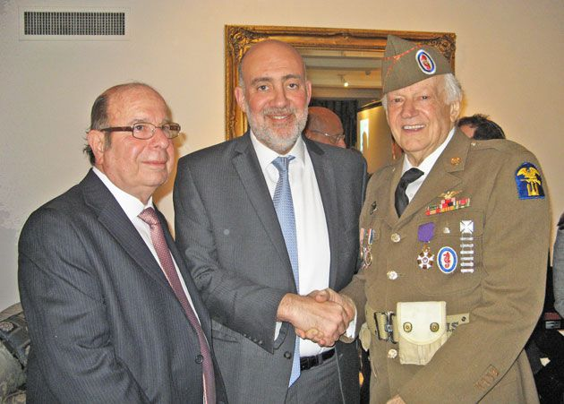 Shlomo Grofman, Ron Prosor, and Rick Carrier.