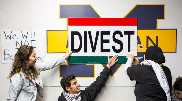A Campus Divided: Students at the University of Michigan called on their school to divest from companies that they say contribute to human rights violations against the Palestinians.