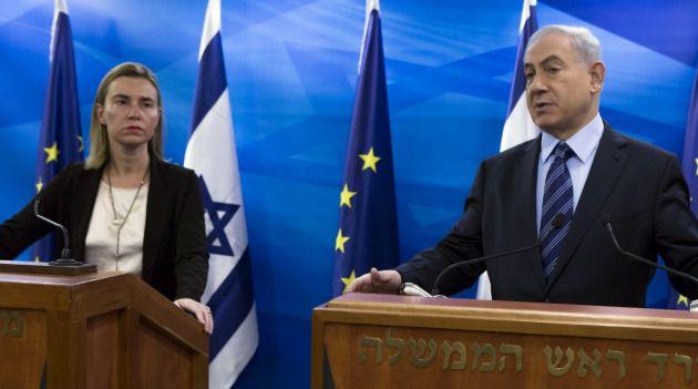 Federica Mogherini speaks at press conference with Israeli Prime Minister Benjamin Netanyahu.