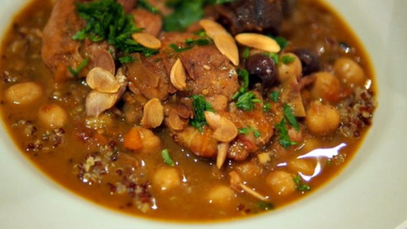 Made in a pressure cooker, this North Africa-inspired stew takes a fraction of the usual time.