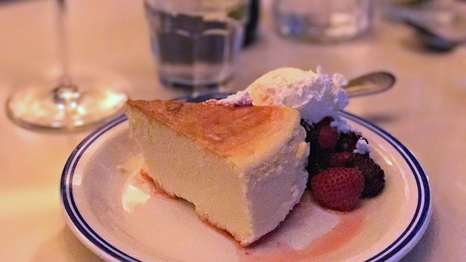 Balaboosta Bakes: Brett and Sam Nidel's mother, Arlene, makes a weekly dessert special, such as the cheesecake here.