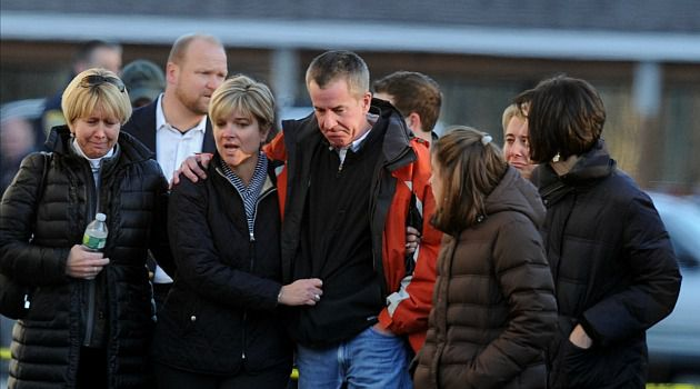 Unspeakable Grief: Heartbroken parents gather in Newtown, Conn., as word spread about the mass shooting.