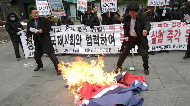 No Nukes: Protests erupted in South Korea after the north tested a big new atomic weapon.