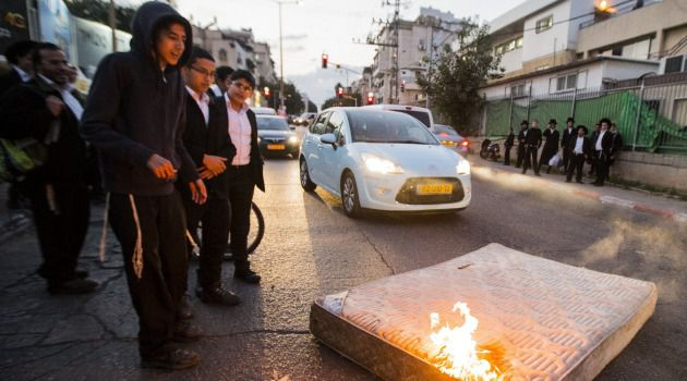 Anger: Israelis protest plans to end draft exemption for ultra-Orthodox.