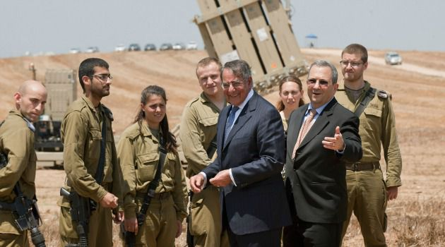 Serious Talk: Defense Secretary Leon Panetta tours Israel?s Iron Dome missile defense system with his counterpart, Ehud Barak.