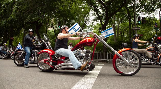 Big Zionist Tent: There?s room for bikers along with the Modern Orthodox youth groups and day schools that dominate the annual Celebrate Israel parade in New York. One activist says the parade should draw the line at gay marchers.