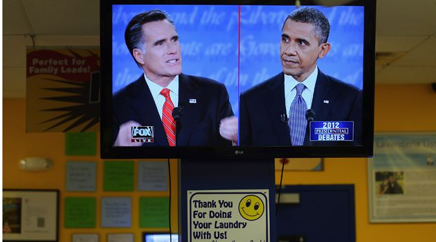 Head to Head: Across the country people tuned in to hear President Barack Obama and challenger Mitt Romney square off on the economy, entitlements and the national debt.