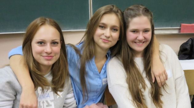 Revivalists: The task of reclaiming Jewish history in Poland is largely undertaken by non-Jews, such as these high school students participating in a program run by the Forum for Dialogue in Radom (from left), Kasia Dolega, Agata Filipczak and Martyna Sliwinska.