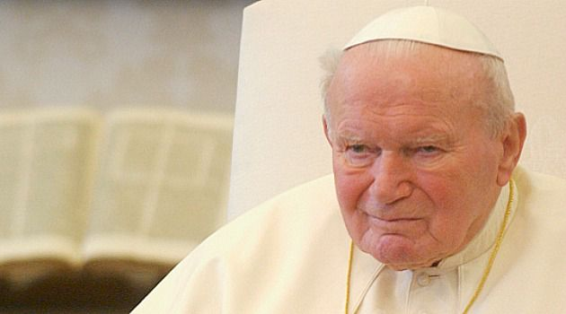 A Sainted Pontiff: Pope John Paul II seemed to have a liberal and conservative advisor perched on each shoulder.