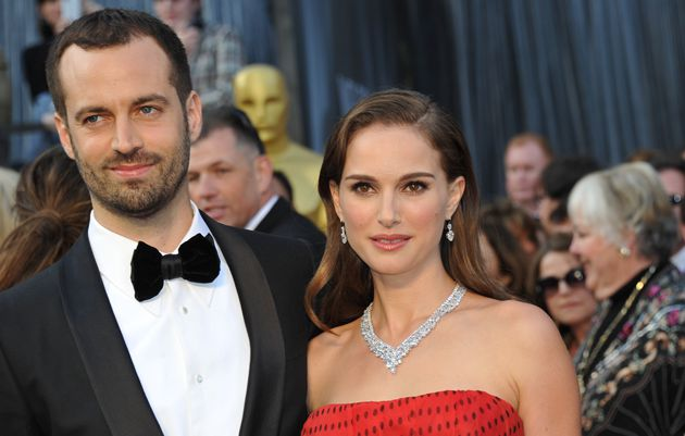 Hitched: Natalie Portman and Benjamin Millepied, who were married this week.