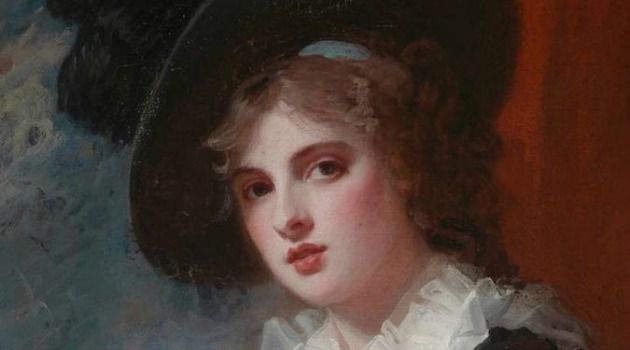 """""""Portrait of Emma Hart,"""" by the English artist George Romney, was among the prized works donated to the Museum of Fine Arts in Boston by a member of the famed Rothschild family."""