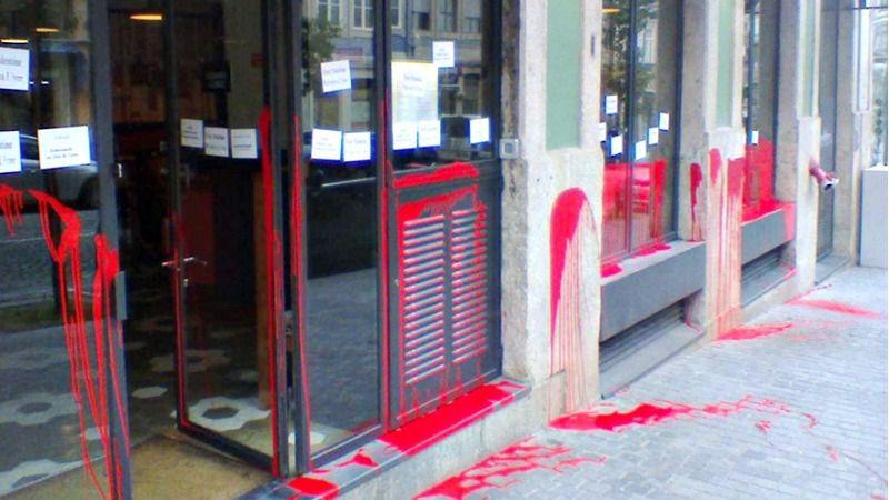 The Cantinho do Avillez restaurant in Porto, Portugal, following vandalism on November 19.