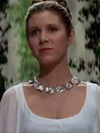 Carrie Fisher as Princess Leia in ?A New Hope.?