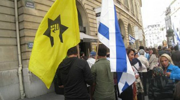 Strike Back: French Jewish militants march to protest what they call Arab anti-Semitism.