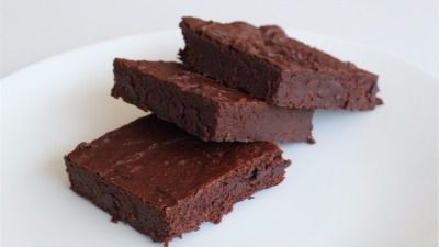 Pure Genius's gluten-free and vegan chocolate brownie, made with chickpeas.