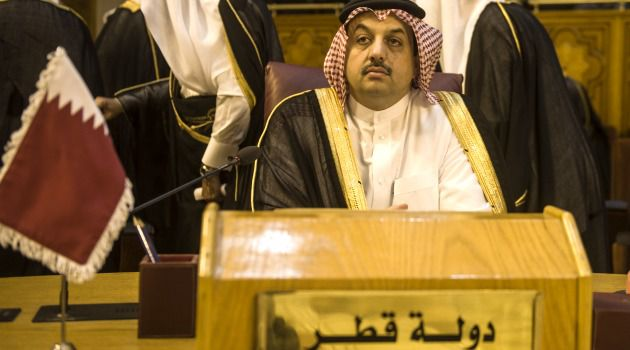 New Villain? Qatari foreign minister Khaled al-Attiyah attends an emergency meeting of Arab foreign ministers in Cairo to discuss Israel's war in the Gaza Strip.