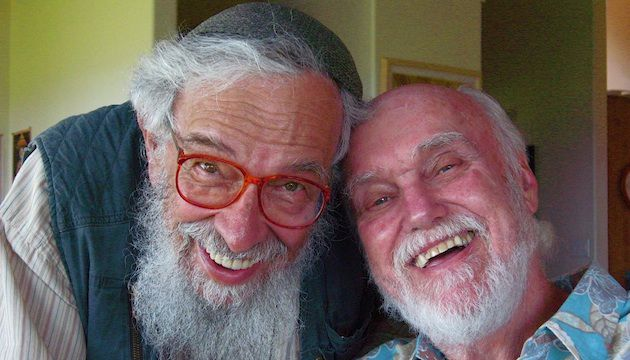 An Inspiration: Zalman Schachter-Shalomi (left) and Ram Dass in February 2008.