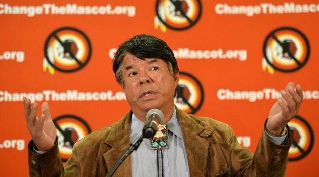 Ray Halbritter, Oneida Indian Nation Representative, speaks at a press conference after meeting with senior officials of the National Football League about changing the mascot name of the Washington Redskins.
