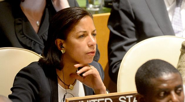 No Vote: U.S. Ambassador Susan Rice listens during speech at United Nations over Palestinian bid for statehood.