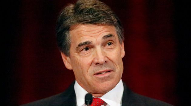 Road Trip: Rick Perry (above) of Texas and Brian Sandoval of Nevada are both 2016 GOP presidential hopefuls.