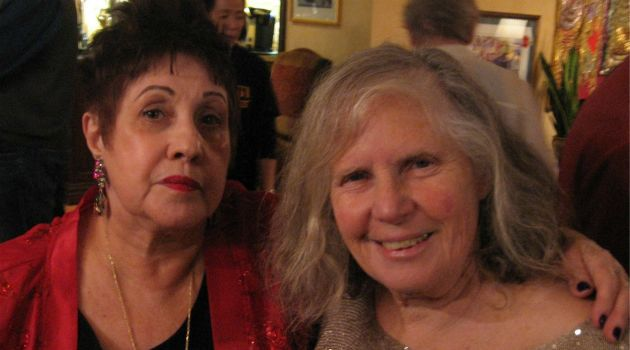 Rivka Haut, right, with author Phyllis Chesler