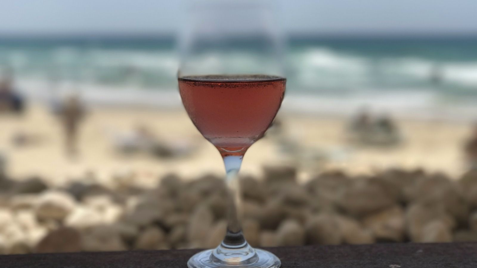 This rosé, called Blue C, is from Covenant Israel. It certainly looks right at home by the Mediterranean.