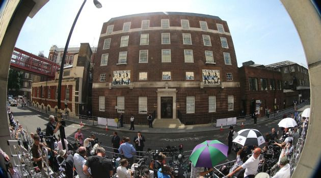 Jewish Connection: Media gather outside the Lindo Wing of St. Mary?s Hospital in London, where Kate Middleton was expected to give birth to her first child. Who knew the annex was funded by a wealthy Sephardic Jews?