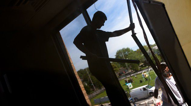 Security at a Cost: Congregation B'nai Israel of Staten Island installs new windows, paid for by a federal grant.