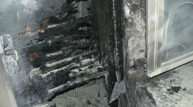 Damage at a Christian seminary attacked by suspected Jewish extremists.