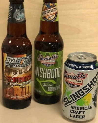 The Shmaltz brews that showed up at the office.