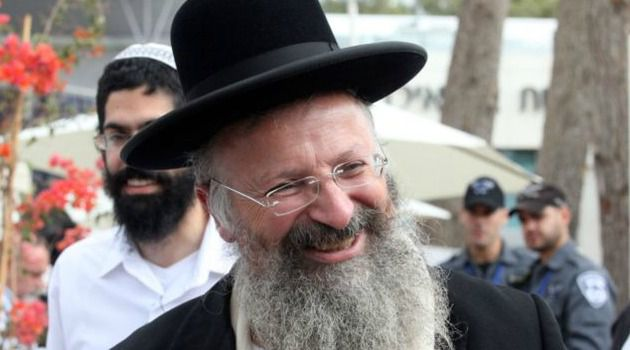 Controversial: Shmuel Eliyahu is a candidate for Sephardic chief rabbi of Israel. He has said Jews should not rent or sell property to Arabs and called Palestinians a threat to Jewish women.