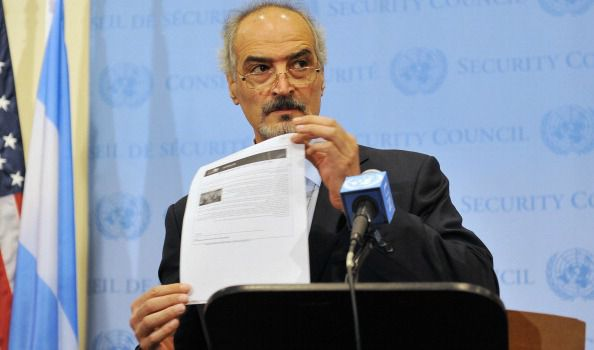 Crisis Averted? Bashar Jaafari, Syria?s Ambassador to the United Nations, speaks about Syria?s chemical weapons outside the Security Council.
