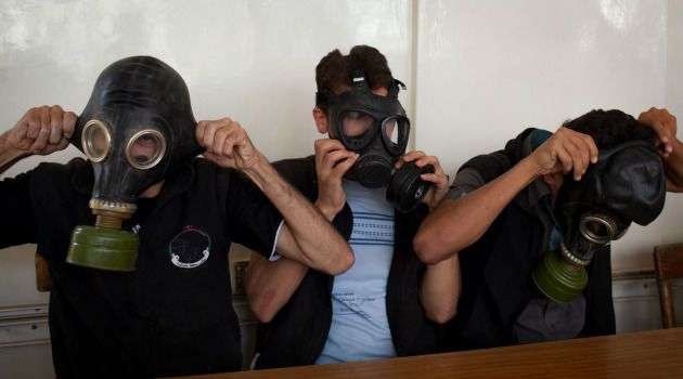 Deterrent?: Syrians are scrambling to find protection against chemical weapons attacks. The global outrage over the Assad regime?s use of the banned weapons underline why should rethink its policy on chemical and nuclear weapons.