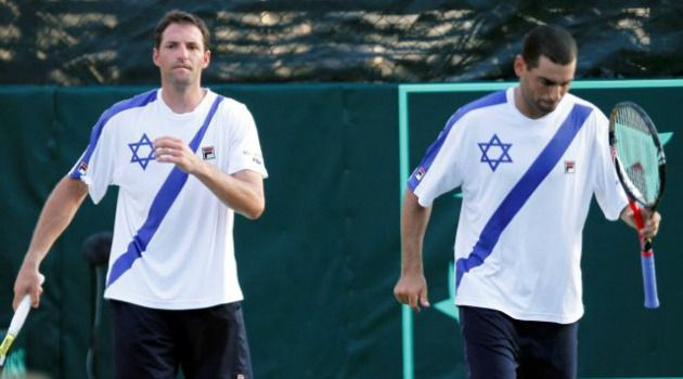 Big Win: Israel?s Andy Ram and Yoni Erlich are into the quarterfinals of the men?s doubles tennis event at the London Olympics.