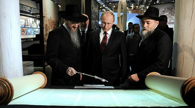 Putin?s Tour: Russian President Vladimir Putin gets a tour of a new Jewish museum in Moscow.