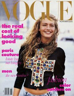 Michaela Bercu's 1988 Vogue cover.