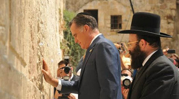 Silent Prayer: After praying at the Western Wall, Mitt Romney prepared for a policy speech in jerusalem.